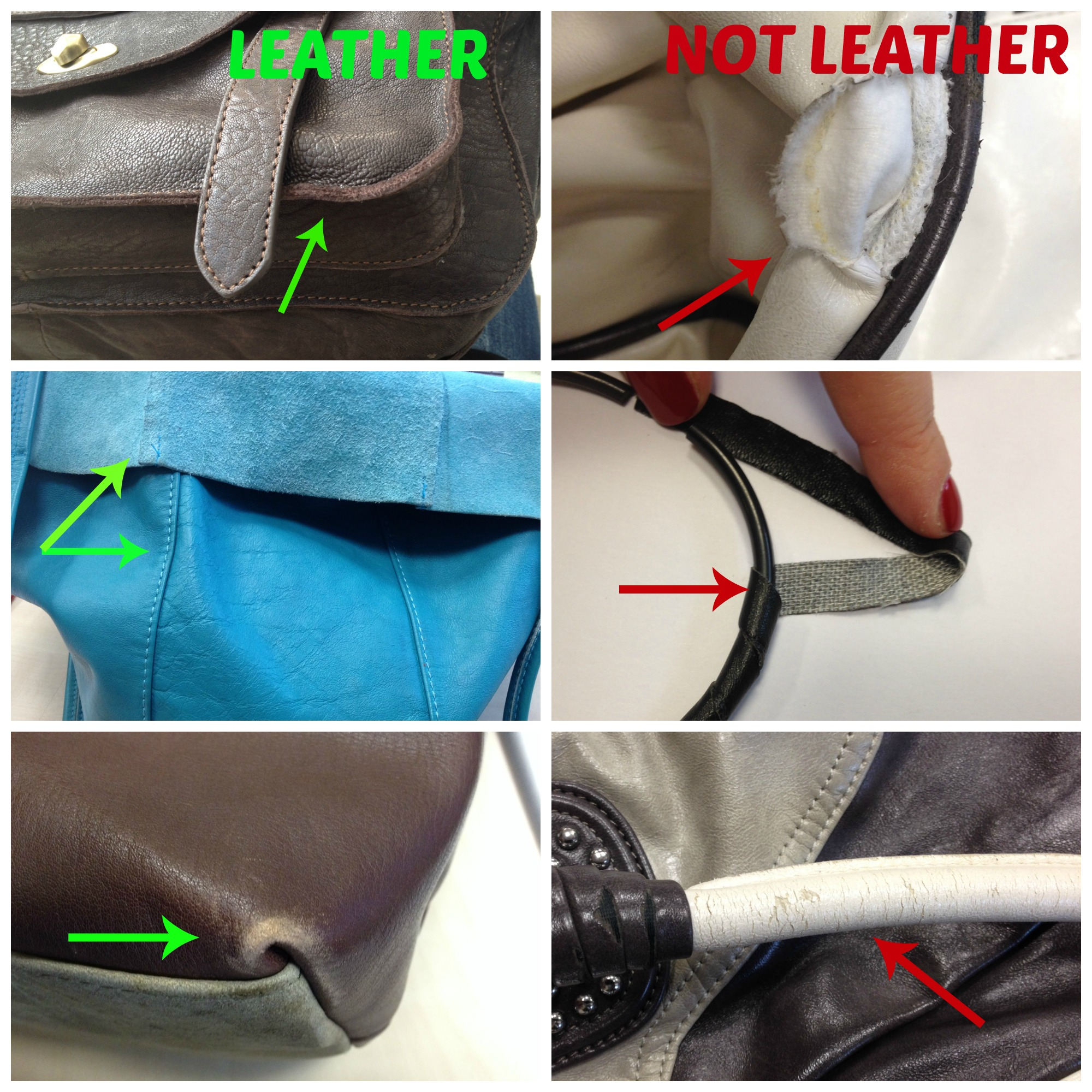 How to tell the difference between real and fake leather for What is faux leather to real leather