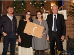 Danilo, Agata and Valeria Marchetto awarded by Flavio Lorenzin president of Apindustria